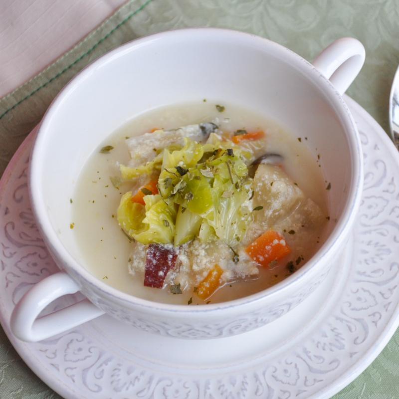 大根と砂肝の至福の豆乳ポトフ