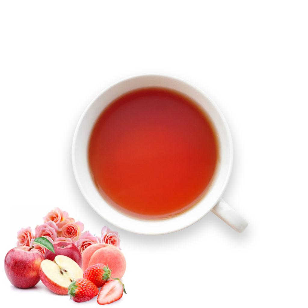 フルオーガニック紅茶/林檎白桃苺&薔薇