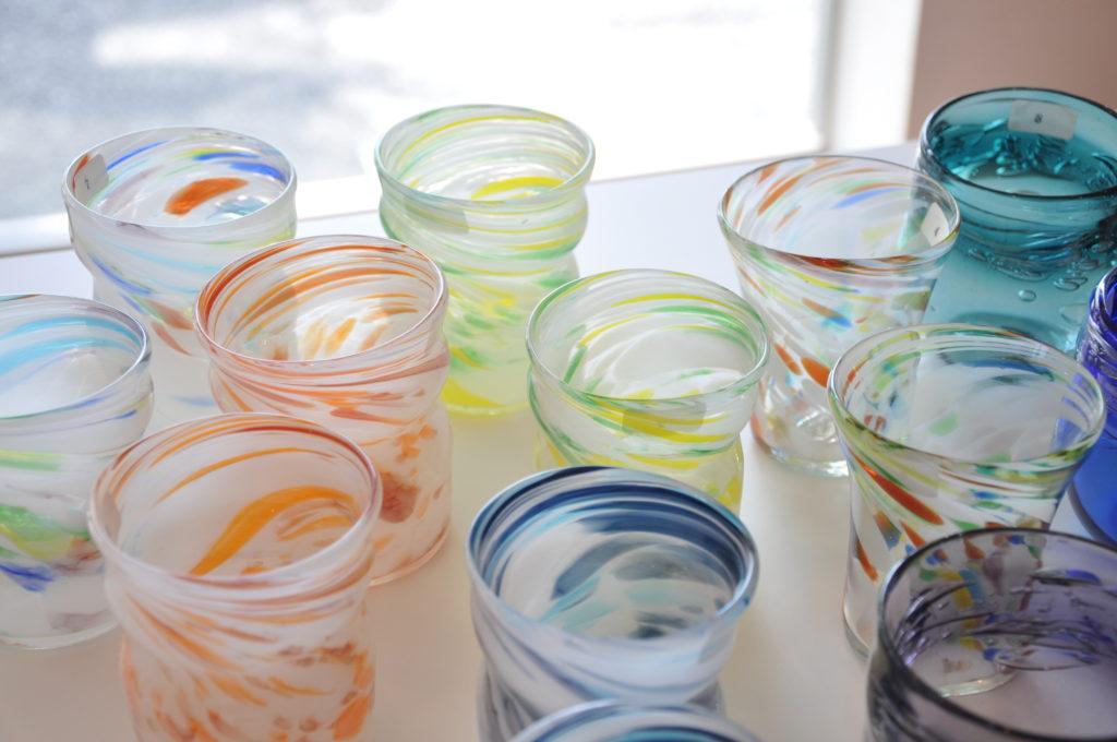 屋我平尋さんの琉球ガラス